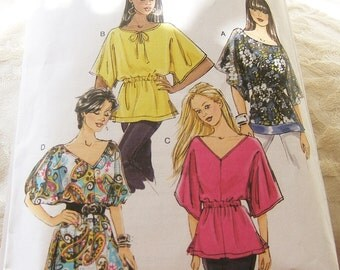 Butterick 5496 size extra small, small and medium womens blouse/top