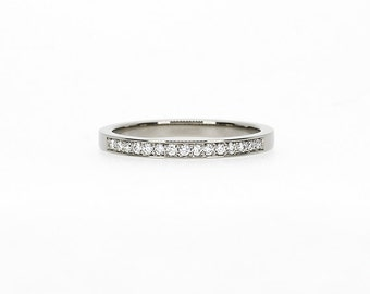Diamond ring, White gold, Wedding band, half eternity, Diamond wedding band, Fine, gold band, thin, wedding ring, Gold wedding