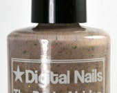 The Dude Abides, a nude crelly with ultrachrome flakies inspired by the Big Lebowski, by Digital Nails