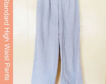 Classic Linen High Waist Pants digital sewing pattern - Instant download -