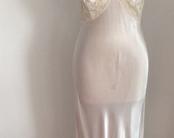 VTG Silver Nightgown