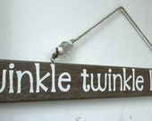 Twinkle Twinkle Little Star Hanging Driftwood Sign, Rustic Home Decor, Beach Home Decor. READY TO SHIP