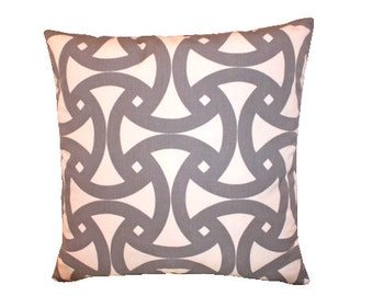 Grey Outdoor Santorini Pillow Cover by Schumacher