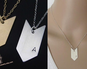 Personalized Necklace, Personalized Jewelry, Arrow Necklace, Initial Necklace, Pendant Necklace, Gift