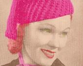 Vintage 1938 Tasselette Cap 679 PDF Digital Crochet Pattern
