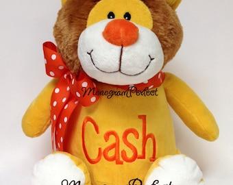 Personalized Plush Golden Yellow Lion Stuffed Animal Soft Toy