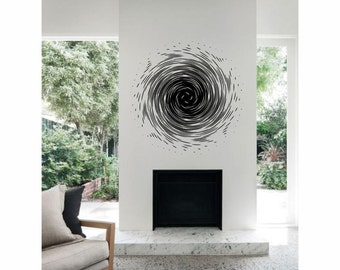 Optical Illusion - The Vortex vinyl wall decal removable wall decor (ID: 151017)