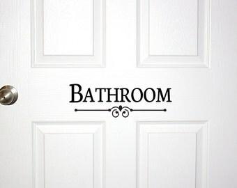 Bathroom Door Sign