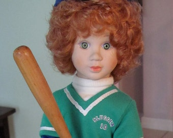 Avon Tender Memories ~ Batter Up Collectible Doll: certificate #028437