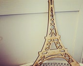 """Eiffel Tower  Laser cut and laser engraved Wood 12 x 8"""" Also available in Acrylic"""