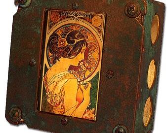 Art Nouveau Night Light Alphonse Mucha La Primevere