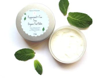 Peppermint & Tea Tree Organic Foot Balm