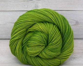Orion - Hand Dyed Superwash Merino Wool Sport Yarn - Colorway: Sprout