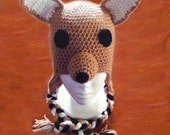 Kangaroo Earflap Hat - Made to Order