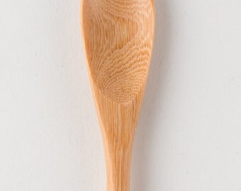 Hand Carved Wooden Long Skinny Japanese Spoon