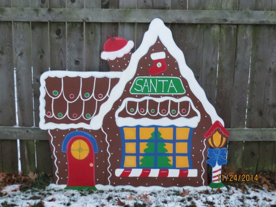 Christmas santa s gingerbread house wood outdoor village