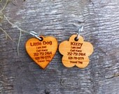 Pet Tag Engraved With Your Pup's, Cat's, or Your Information The Way You Want It (quiet)