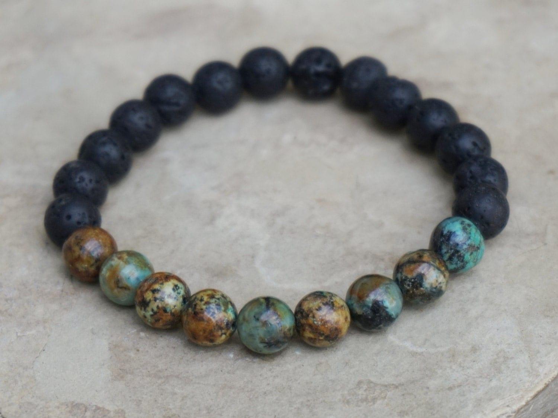 african turquoise bracelet for men unisex beaded bracelet. Black Bedroom Furniture Sets. Home Design Ideas