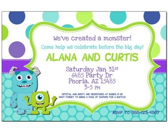 Monsters Inc Baby Shower - Party Pack