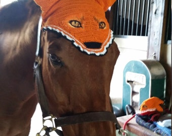 Fox Mask Fly Bonnet for Horseik