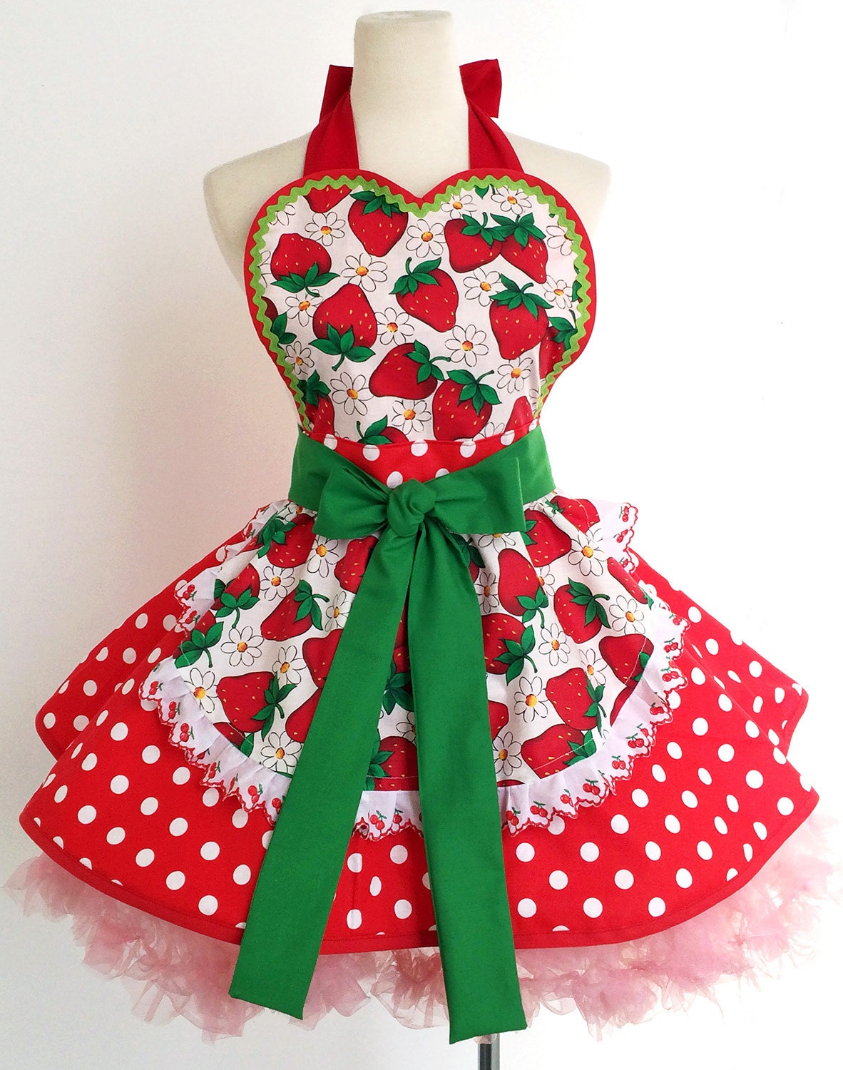 Womens Retro Aprons Flirty Sexy Vintage Pinup by CreativeChics