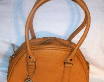 Steve Madden Handbag - Faux Ostrich - Purse - Vintage