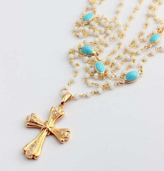 Rosary Inspired Necklace Rosary Inspired Necklace Multi