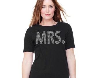 Bling MRS. TShirt - Black Bride Tank, Bachelorette Shirt, Bachelorette Party
