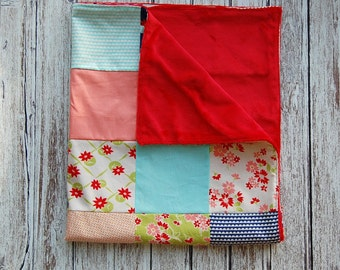 Sale Miss Kate Collection Modern Baby Minky Blanket Ready to Ship