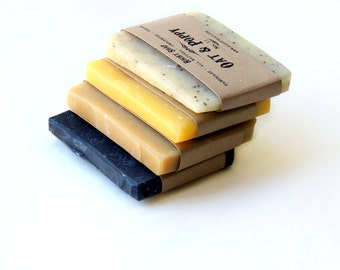 soap, natural soap gift, Soap - stocking stuffer, sampler set, vegan soap, unscented soap, natural soap, charcoal soap,gift for mom