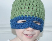 Ninja Hat - Hat with Mask - Karate Hat - Kung Fu Hat - Fits 2+ Year Olds