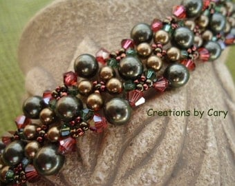 30% off every tutorial! Use coupon code WELCOME in the coupon area at checkout. Velvet Moon woven beaded bracelet pattern tutorial