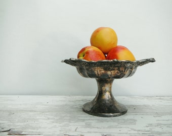 Fancy Silver Plated Pedestal Bowl