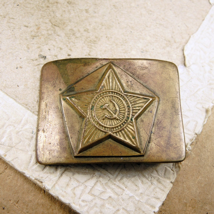 Rare Brass Buckle - Vintage Military Buckle - f145 steampunk buy now online