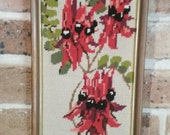 Embroidery Wall Hanging Sturt Desert Pea