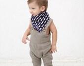 Boy neckerchief scarf Neck warmer  Square neckerchief Bandana bib Boy neck scarf Mustache print