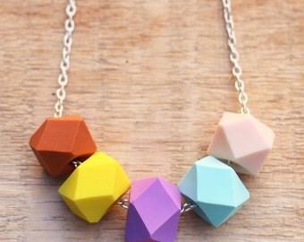 Pina Colada Geo Pop necklace