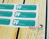 Orthodontist Planner Sticker - Size Customize-able - rectangle