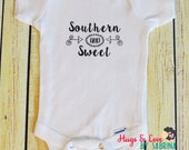Southern and Sweet Baby Bodysuit  - Any size