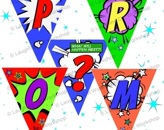 Prom Download promposal printable prom sign comics prom invite Ask to prom banner junior prom senior prom girlfriend funny prom invitation