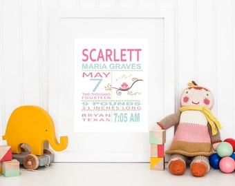 PRINTED Abigail Bird Subway Art Print Printed and Shipped