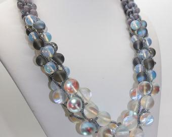 Beaded handmade necklace, handmade necklace from gemstones, fashion handmade necklace