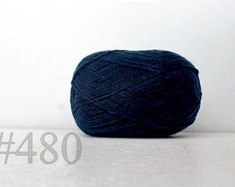WOOL yarn 100%-Wool yarn for knitting, crochet - sea blue #480