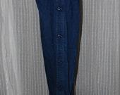 AS IS Vintage Blue Denim Jeans Parachute Pants with buttons down legs