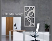 """Metal Wall Art Abstract Outdoors Corporate Brushed Aluminum Contemporary Cold Edge Gallery by Michele """"Montecarlo"""""""