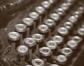 Quotations - Original Fine Art Photograph (home decor, vintage, typewriter, black and white, typewriter keys)