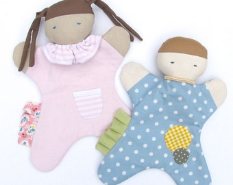 Baby Lovey for Girl or Boy PDF Sewing Pattern - Baby's First Doll