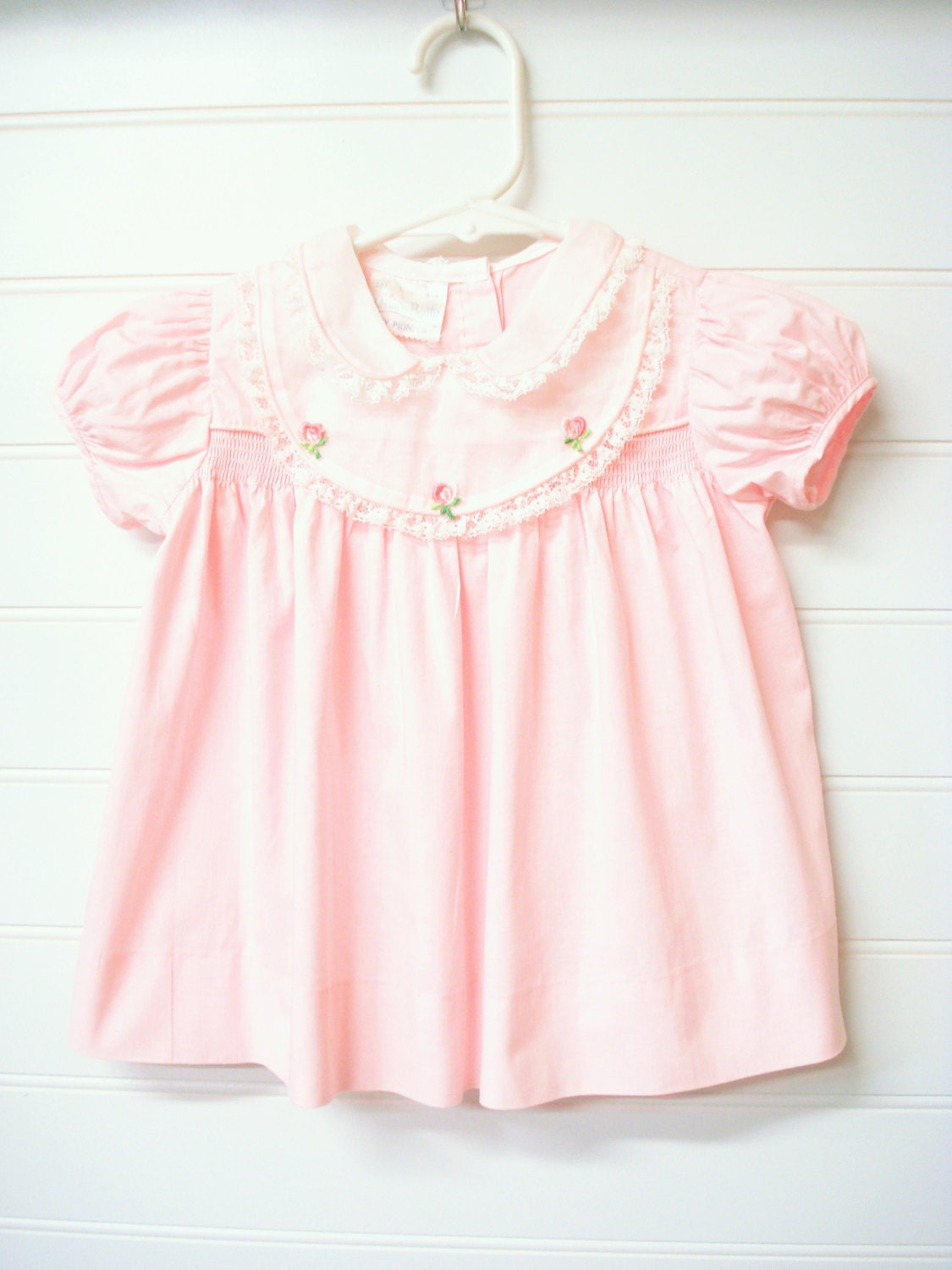 vintage baby clothes baby dress pink baby doll style