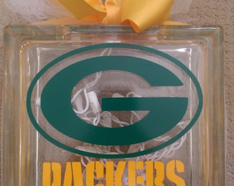 GREEN BAY PACKERS Block Light Personalized