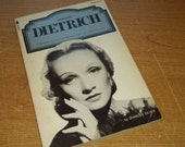 "Vintage Entertainment Paperback, ""Marlene Dietrich"" by Charles Silver, 1974. From the Pyramid Illustrated History of the Movies."